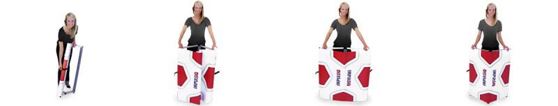 Auspacken - Aufklappen - Fertig: Aufbau des ImpulsExpo