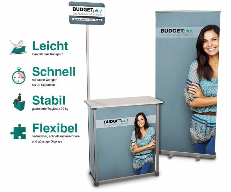 Budgetplus - Die Aluminium-Falttheke