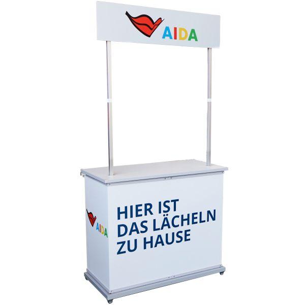 "Infostand mit Display ""AIDA"""