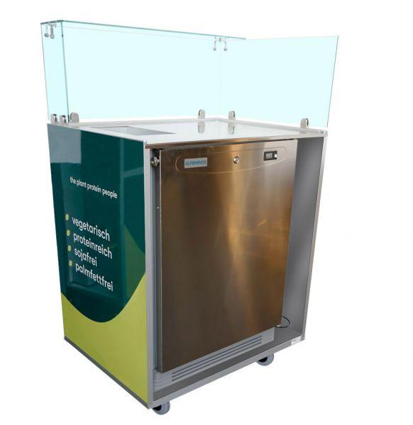 Kühlschrank auf Rollen, individuell bedruckt