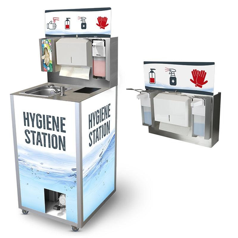 Hygienestation für Kunden und Mitarbeiter