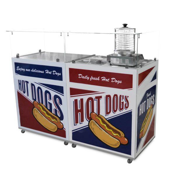Hot Dog Verkauf an mobiler Theke