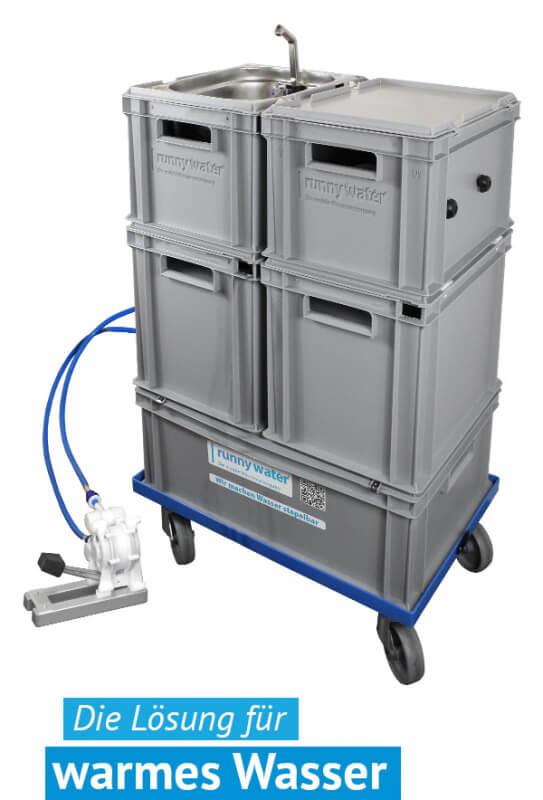 mobile Warmwasser Hygienestation Wasserstation