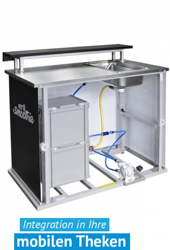 Wassertank - Wasserkanister Alternative - Frischwassertank - Abwassertank mobil in Workingbase integriert