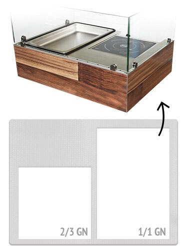 mobile Küche individuelle Arbeitsfläche