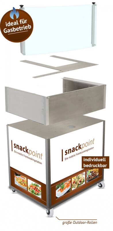 Snackpoint Frontcooking Station individuell bedruckbar - Outdoor
