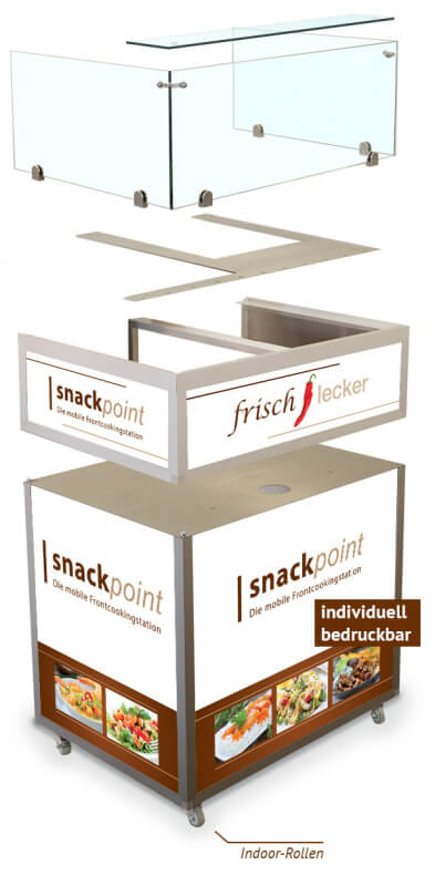 Snackpoint Frontcooking Station individuell bedruckbar - Indoor